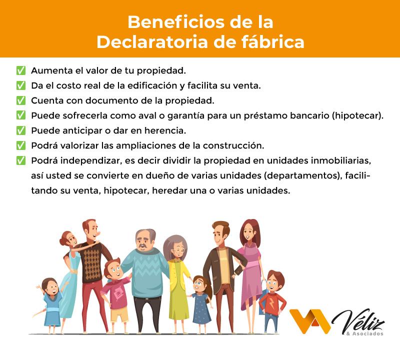 beneficios de la declaratoria de fábrica Perú 2021