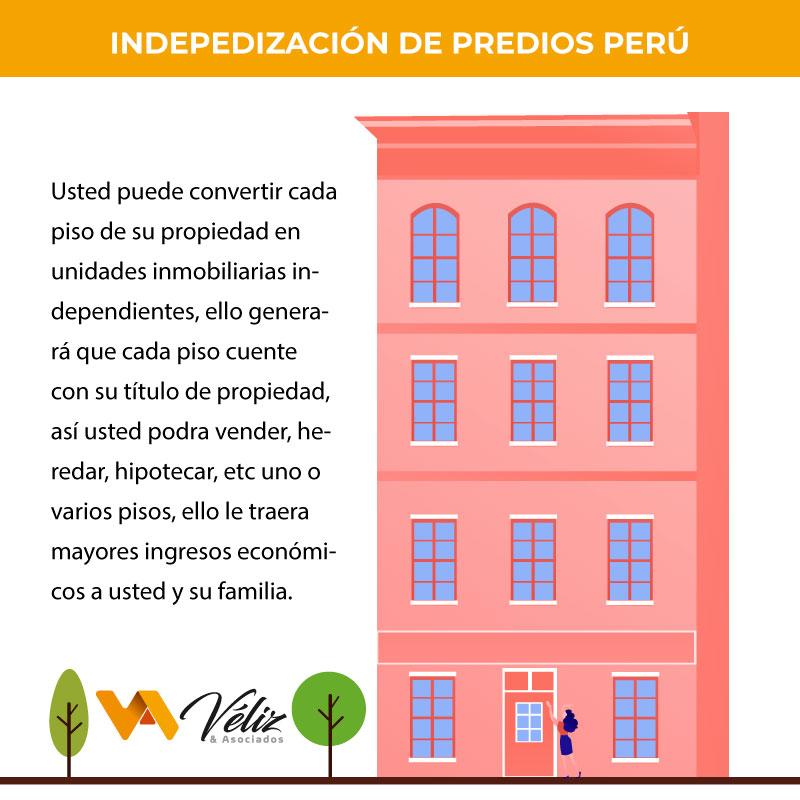 requisitos para la independización de predios en Perú 2021 ventajas