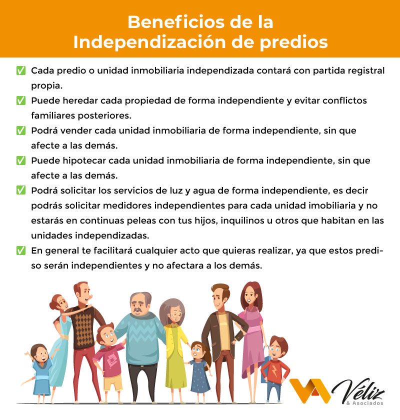 Requisitos para la independizacion de predios en Perú beneficios